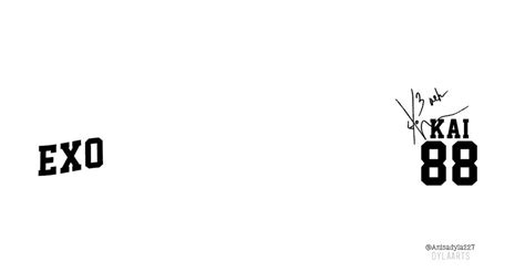 exo wallpaper twitter twitter background kai exo 88 with signature by anisadyla