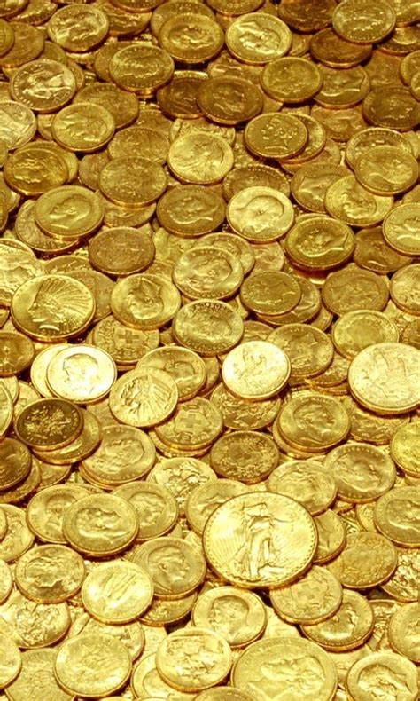 wallpaper money gold 480x800 money yellow gold coins wallpapers and pictures