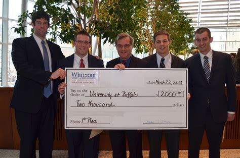 At Buffalo School Of Management Mba by Ub School Of Management Mbas Win Prestigious Whitman