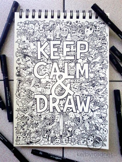 how to draw cool doodle doodle keep calm and draw by kerbyrosanes on deviantart