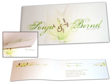 Hochzeitseinladung Transparentpapier by Hochzeitseinladungskarte Lilientraum