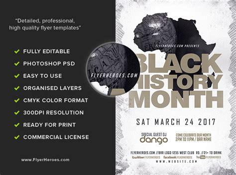 Black History Month Flyer Template Flyerheroes Black History Month Poster Template
