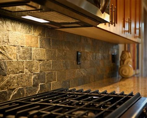 rustic backsplash tile a textured stone backsplash is sure to give your kitchen a