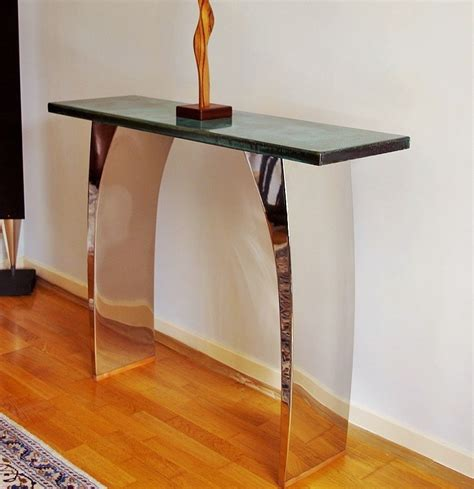 modern console tables with beautiful metal finishes