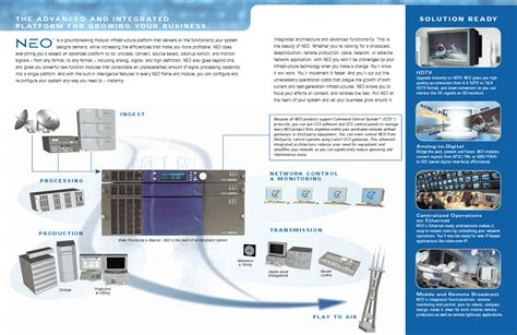 Technical Brochure Template by Technical Writing Brochure Leitch Technology Neo