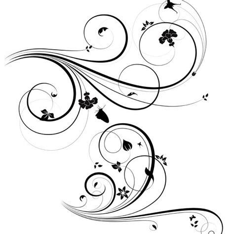 pattern vector spiral free download free flourish swirl floral corner patterns vector 02 titanui