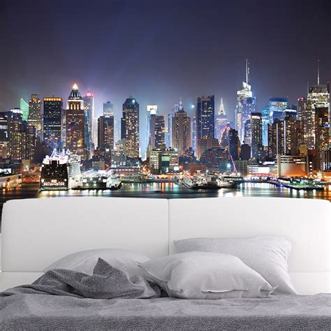 New York Skyline Wall Mural new york city wall mural skyscraper skyline photo
