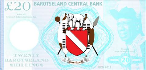 bank note template barotseland promotional banknote sle