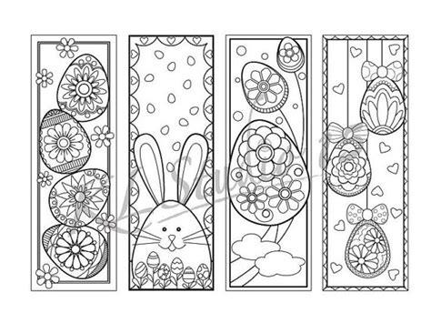 printable easter bookmarks to colour easter coloring bookmarks page instant download relax