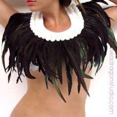 fashion black feather chandelier dangle women's hook