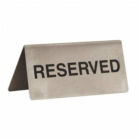 reserved table sign restaurant reserved table sign