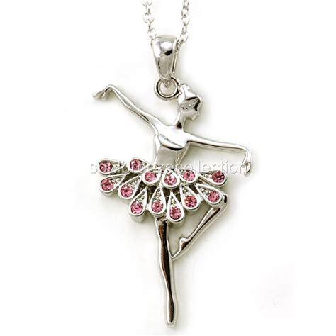 light pink ballerina ballet dancer pendant