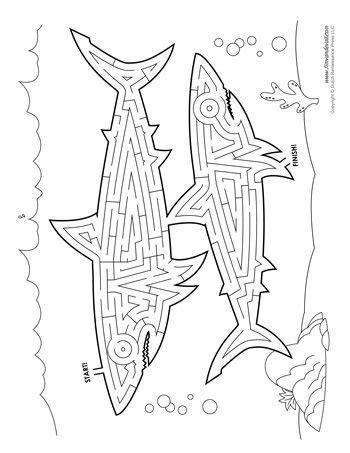 printable shark maze shark maze tim s printables