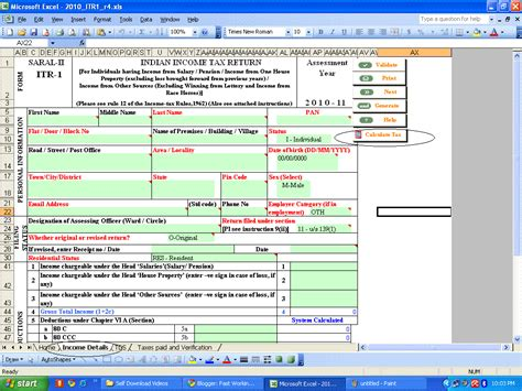 Tax Credit Form Exle Income Tax Form 16 Excel