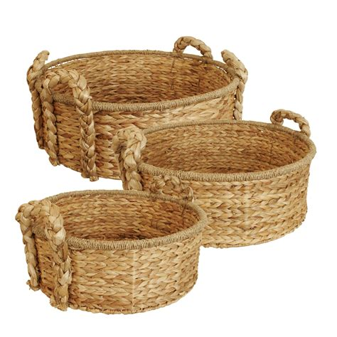 home decor imports wholesale set of 3 round home decor baskets wholesale home decor