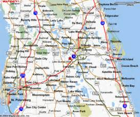 Orlando Highway Map by Central Florida Map Images