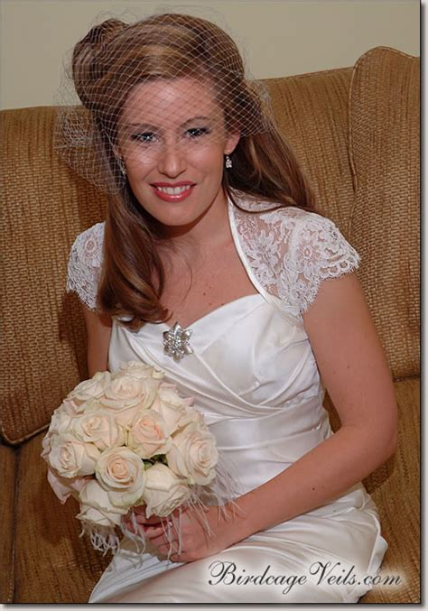 Wedding Hair Half Up With Birdcage Veil by Question To The Bees Re My Wedding Dress Style Weddingbee