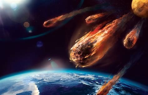 falling comet in the earth s atmosphere background hd is an asteroid going to hit earth how it works magazine