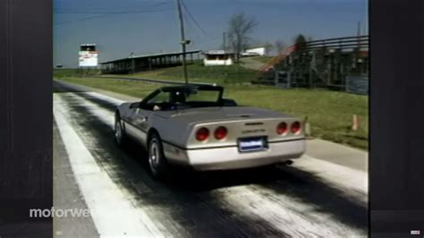 1986 corvette review throwback to 1986 with motorweek s corvette convertible