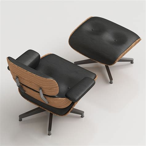 Lounge Chairs With Ottomans 3d Eames Lounge Chair High Quality 3d Models