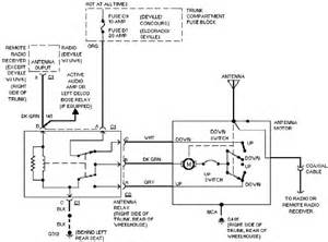 cadillac concours power antenna circuit circuit wiring diagrams