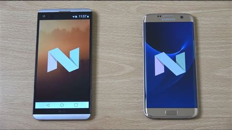 lg v20 vs samsung galaxy s7 edge android nougat speed test