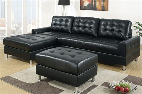 black sectional sofa with chaise lovable black leather