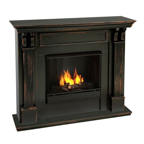 real indoor gel fireplace black wash