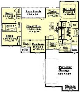1600 square foot floor plans 1600 square feet 3 bedrooms 2 batrooms 2 parking space on 1 levels house plan 52 all