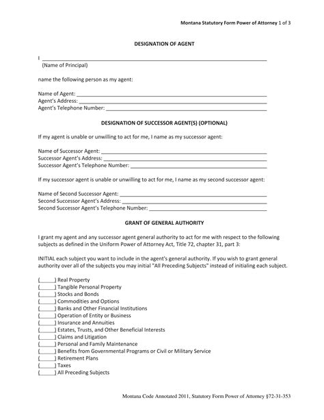 sle of power of attorney form choice image form
