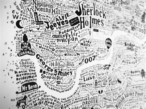 literary london a street 0141026243 typographic map of literary london print by run for the hills notonthehighstreet com