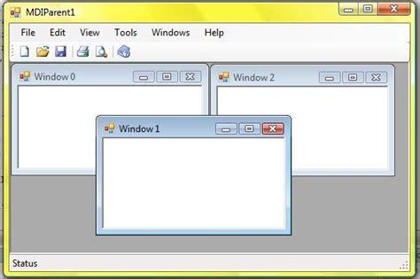 mdi form design template in c a c mdi starter sle codeproject