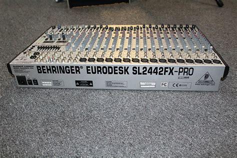 Mixer Behringer Sl2442fx behringer eurodesk sl2442fx pro mixer prodigy studios