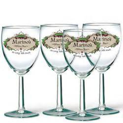 Personalized Bar Glassware Personalized Wine Bar Glasses Findgift