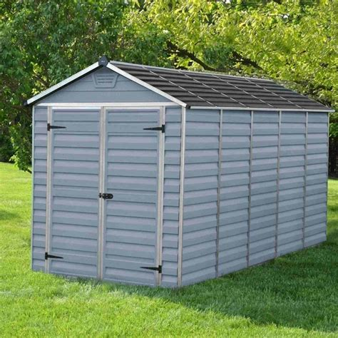 Apex Plastic Shed by Palram Skylight Plastic Anthracite Apex Shed 6x12 Garden