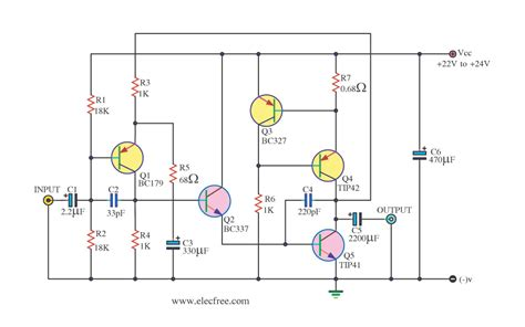 transistor power lifier class a lifier circuits eleccircuit