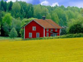 house landscape abandoned wooden house in swedish landscape a photo on