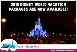 World Deals 2016 Walt Disney World Vacation Packages Now Available