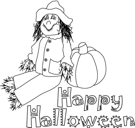 happy halloween coloring pages kids world