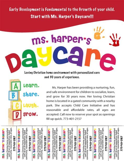 advertising poster templates free daycare flyers follow barnes