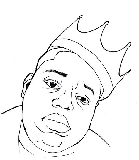 how to draw biggie moar notorious b i g caricature