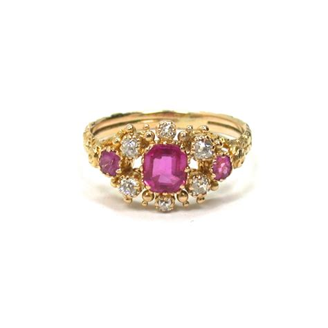 antique 18kt ruby ring