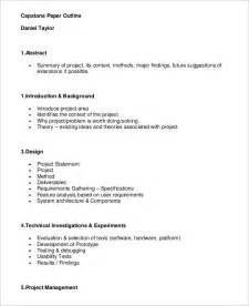 capstone outline template project outline template 9 free sle exle format