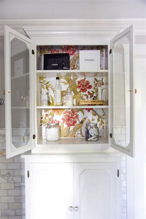 wallpaper kitchen cabinets inside cabinets to wallpaper or painting creative