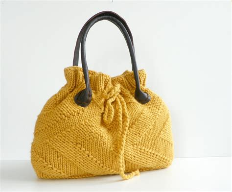 knit bags nzlbags new mustard knit bag handbag shoulder bag