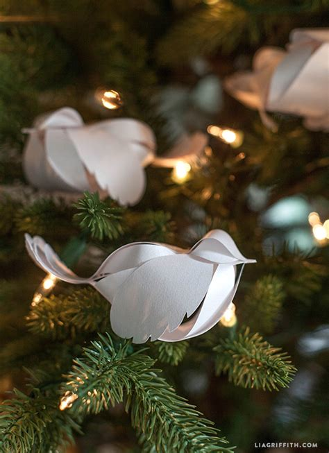 paper birds for your holiday decorations video tutorial