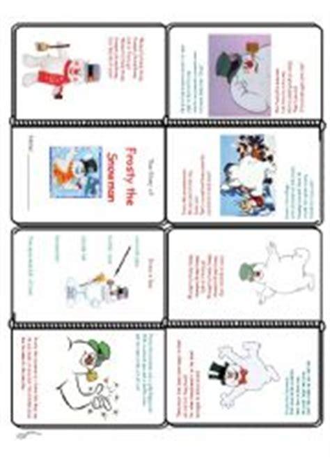 frosty snowman lyrics printable version english worksheets frosty the snowman mini book