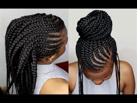 how to cornrow hair for crotchet braids crochet braids method on cornrows tutorial for beginners