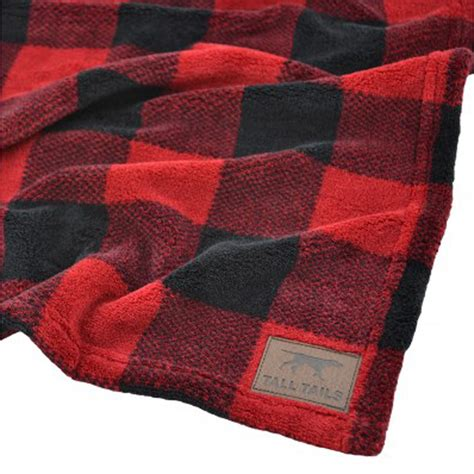 decke plaid tails fleece blanket hunters plaid with same