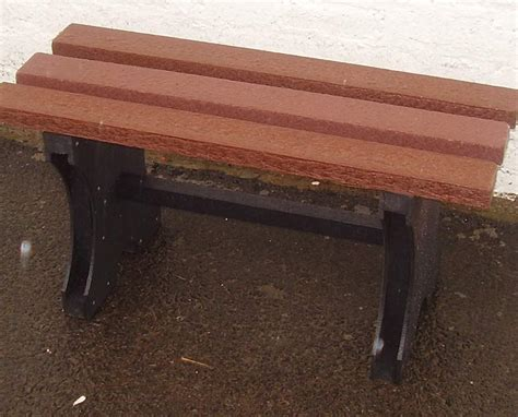recycled bench recycled plastic bench backless